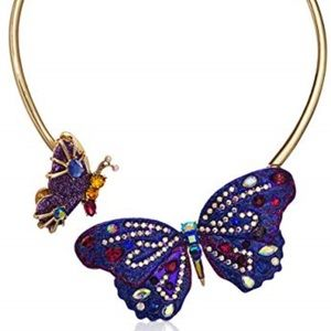 Betsey Johnson Hinge Butterfly Necklace